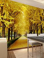 Недорогие -обои / фреска холст Облицовка стен - Клей требуется Цветочный принт / Ар деко / 3D