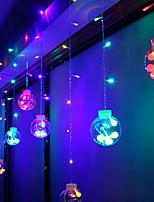 Недорогие -3M Гирлянды 60 светодиоды Разные цвета Декоративная 220-240 V 1 комплект