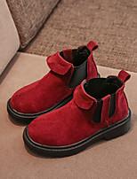 Недорогие -Мальчики / Девочки Обувь Замша Зима Армейские ботинки Ботинки для Дети Серый / Красный / Розовый