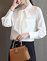 baratos -blusa de trabalho feminina - decote em v de cor sólida