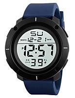 Недорогие -Муж. Спортивные часы Японский Цифровой 30 m Календарь Секундомер Хронометр PU Группа Цифровой Кольцеобразный Мода Черный / Синий - Синия / Черный Синий Черный / Белый Два года Срок службы батареи