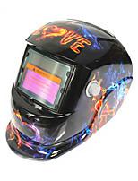 Недорогие -солнечный авто потемнение сварочный шлем 107 огонь любовь