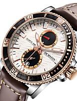 Недорогие -Муж. Жен. Нарядные часы Наручные часы Японский Кварцевый 30 m Защита от влаги Календарь Секундомер Натуральная кожа Группа Аналоговый На каждый день Мода Черный / Белый / Коричневый -