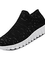 Недорогие -Муж. Комфортная обувь Сетка Осень На каждый день Мокасины и Свитер Дышащий Черный / Серый