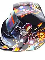 Недорогие -солнечная автоматическая затемняющая сварочная шлем модель 107 стальной человек