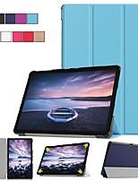 abordables -Coque Pour Samsung Galaxy Tab S4 10.5 (2018) / Tab A2 10.5(2018) Avec Support / Clapet / Origami Coque Intégrale Couleur Pleine Dur faux cuir pour Tab S4 10.5 (2018) / Tab A2 10.5(2018)