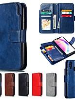 Недорогие -Кейс для Назначение Huawei P20 / P20 Pro Кошелек / со стендом Чехол Однотонный Твердый Кожа PU для Huawei P20 / Huawei P20 Pro / Huawei P20 lite / P10 Lite / P10