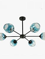 baratos -QIHengZhaoMing 6-luz Lustres Luz Ambiente Galvanizar Metal Vidro 110-120V / 220-240V Branco Quente