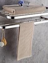 abordables -Barre porte-serviette Design nouveau / Cool Moderne Acier inoxydable 1pc Double Montage mural