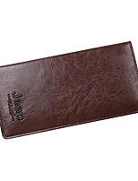 Недорогие -Муж. Мешки PU Бумажники Буквы Коричневый / Темно-коричневый / Хаки