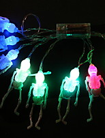 Недорогие -5 метров Гирлянды 20 светодиоды Разные цвета Декоративная Аккумуляторы AA 1 комплект