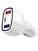 Недорогие -Автомобильное зарядное устройство Зарядное устройство USB Евро стандарт Несколько разъемов / QC 3.0 2 USB порта 3 A / 3.5 A DC 12V-24V для S8 / S7 / S6