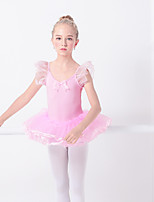 abordables -Danse classique Robes Fille Entraînement / Utilisation Elasthanne / Lycra Ondulé / Combinaison Manches Courtes Robe