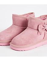 Недорогие -Девочки Обувь Кожа Зима Зимние сапоги / Меховая подкладка Ботинки Бант для Дети Коричневый / Розовый