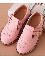 abordables -Fille Chaussures Cuir Printemps & Automne Chaussures de Demoiselle d'Honneur Fille Mocassins et Chaussons+D6148 Boucle pour Enfants Blanc / Noir / Rose