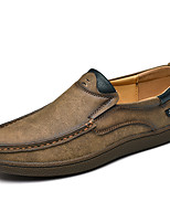 Недорогие -Муж. Обувь для вождения Полиуретан Весна & осень Деловые / На каждый день Мокасины и Свитер Нескользкий Черный / Желтый / Хаки