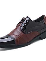 Недорогие -Муж. Официальная обувь Синтетика Весна & осень Деловые / Английский Туфли на шнуровке Нескользкий Черный / Коричневый