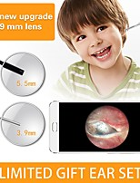 Недорогие -3,9 мм 3 в 1 шт. Версия hd визуальный ушной оральный эндоскоп 1500 мм - лента