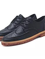 Недорогие -Муж. Комфортная обувь Полиуретан Осень На каждый день Туфли на шнуровке Доказательство износа Черный / Коричневый / Хаки