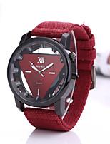baratos -Homens Relógio Esportivo Quartzo Relógio Casual Tecido Banda Analógico Fashion Preta / Azul / Vermelho - Verde Azul Preto / Branco