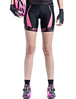 abordables -SANTIC Femme Cuissard Rembourré de Cyclisme Vélo Shorts Rembourrés Respirable Impression réactive Bleu / Rose Tenues de Cyclisme / Elastique