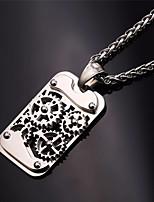 Недорогие -Муж. Старинный Ожерелья с подвесками - нержавеющий Шестерня Винтаж, Steampunk Cool Серебряный 55 cm Ожерелье Бижутерия 1шт Назначение Для улицы