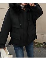 Недорогие -Жен. Спорт Активный Однотонный Обычная На подкладке, Полиэстер Длинный рукав Капюшон Красный / Розовый / Бежевый M / L / XL