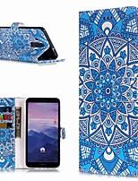 Недорогие -Кейс для Назначение Huawei Mate 10 lite / Mate 9 Pro Кошелек / Бумажник для карт / со стендом Чехол Цветы Твердый Кожа PU для Mate 10 / Mate 10 pro / Mate 10 lite
