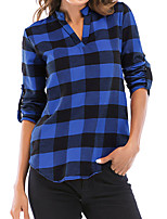 Недорогие -Жен. Рубашка Классический Шахматка