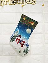 Недорогие -Сумка / Подарочные мешки / Рождество Новогодняя тематика Ткань Круглый Оригинальные Рождественские украшения