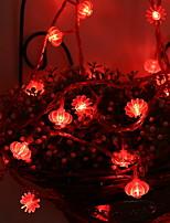 Недорогие -5 метров Гирлянды 50 светодиоды Красный Декоративная Аккумуляторы AA 1 комплект