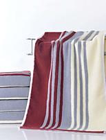 abordables -Qualité supérieure Serviette, Rayé Polyester / Coton Salle de  Bain 1 pcs