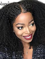 Недорогие -человеческие волосы Remy Необработанные натуральные волосы 100% ручная работа Полностью ленточные Парик Бразильские волосы Афро Квинки Kinky Curly Парик Глубокое разделение 130% 180% Плотность волос