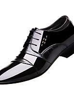 Недорогие -Муж. Официальная обувь Полиуретан Осень Деловые Туфли на шнуровке Доказательство износа Черный