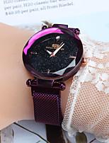 Недорогие -Жен. Наручные часы Кварцевый Черный / Синий / Фиолетовый Повседневные часы Аналоговый Дамы Мода - Кофейный Синий Розовое золото