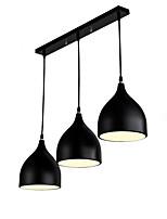 abordables -QIHengZhaoMing 3 lumières Lustre Lumière d'ambiance Plaqué Métal 110-120V / 220-240V Blanc Crème
