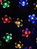 Недорогие -5 метров Гирлянды 30 светодиоды Разные цвета Декоративная Солнечная энергия 1 комплект