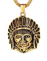 Недорогие -Муж. Классический Ожерелья с подвесками - Нержавеющая сталь Классика Золотой, Серебряный 55 cm Ожерелье Бижутерия 1шт Назначение Подарок, Повседневные