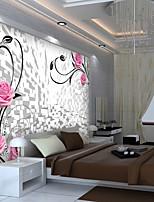 billiga -tapet / Väggmålning Duk Tapetsering - lim behövs Blommig / Konst Dekor / 3D