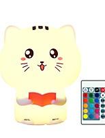 abordables -1pc Catus LED Night Light / Veilleuse de pépinière / Smart Night Light Coloré USB Pour les enfants / Télécommandé / Mignon 5 V