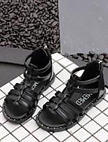 Недорогие -Девочки Обувь Кожа Лето Удобная обувь Сандалии для Дети Белый / Черный