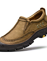 Недорогие -Муж. Кожаные ботинки Наппа Leather Осень Винтаж / На каждый день Мокасины и Свитер Массаж Черный / Хаки