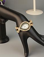 baratos -FEIS Mulheres Bracele Relógio Quartzo Cronógrafo Lega Banda Analógico-Digital Fashion Dourada - Café Azul Azul marinho