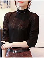 Недорогие -женская футболка - сплошная шея экипажа