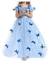 Недорогие -Дети Девочки Однотонный / Геометрический принт С короткими рукавами Платье