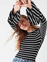 abordables -Tee-shirt Femme, Rayé Mosaïque Actif / Basique