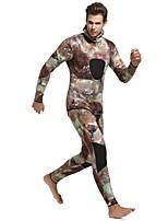 Недорогие -SBART Муж. Гидрокостюм мокрого типа 3mm Наборы одежды Анатомический дизайн Длинный рукав 2 предм камуфляж Осень / Зима / Слабоэластичная