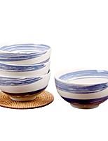 abordables -1 set 4 Pièces Bols Plats de Service Ensemble en porcelaine Vaisselle Porcelaine Céramique Mignon Résistant à la chaleur Design nouveau