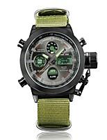 Недорогие -Муж. Спортивные часы Японский Цифровой 30 m Защита от влаги Календарь Секундомер Нейлон Группа Аналого-цифровые Мода Зеленый - Черный / зеленый Зеленый