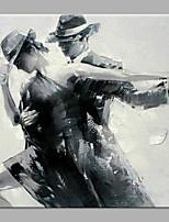 Недорогие -Hang-роспись маслом Ручная роспись - Абстракция / Люди Классика / Modern Без внутренней части рамки